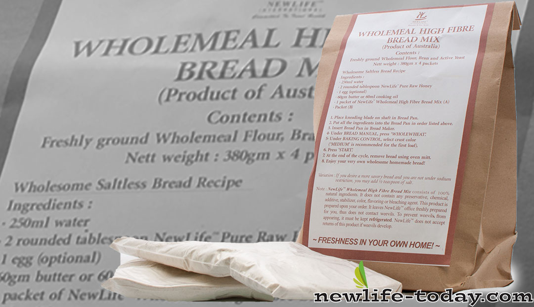 Freshly ground Wholemeal Flour found in Bread Mix